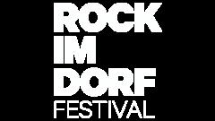 Rock im Dorf Logo Weiß